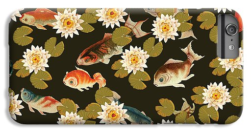 Koi And Lily Pads In Dark Water - Phone Case
