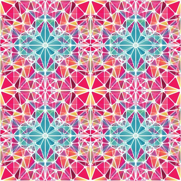 Pink And Blue Kaleidoscope - Art Print