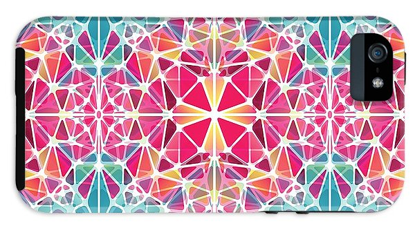 Pink And Blue Kaleidoscope - Phone Case