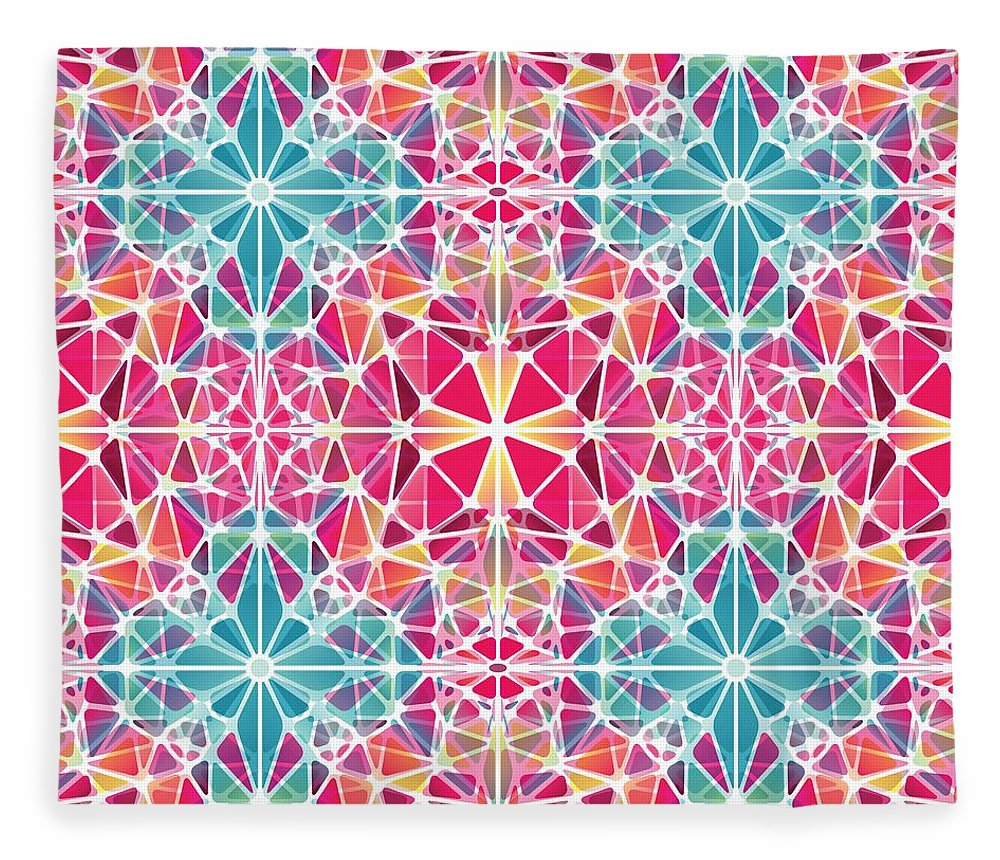 Pink And Blue Kaleidoscope - Blanket