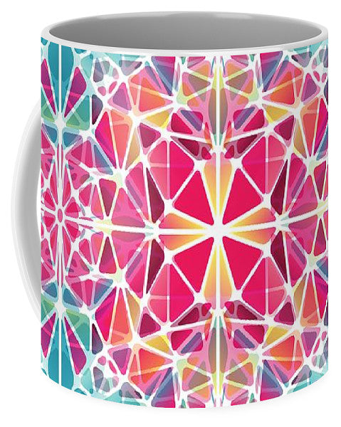 Pink And Blue Kaleidoscope - Mug