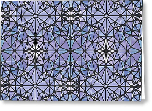 Purple And Blue Kaleidoscope - Greeting Card