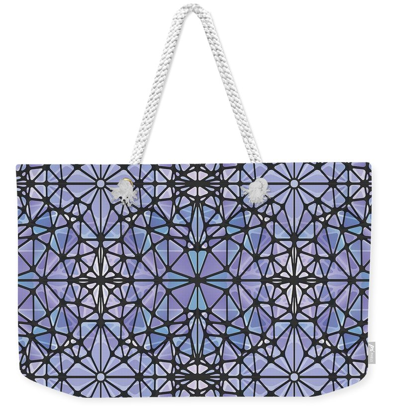 Purple And Blue Kaleidoscope - Weekender Tote Bag