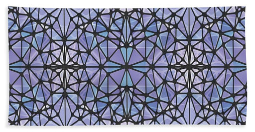 Purple And Blue Kaleidoscope - Beach Towel