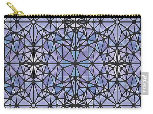 Purple And Blue Kaleidoscope - Carry-All Pouch