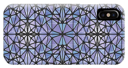 Purple And Blue Kaleidoscope - Phone Case