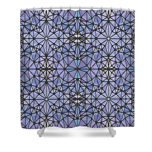 Purple And Blue Kaleidoscope - Shower Curtain
