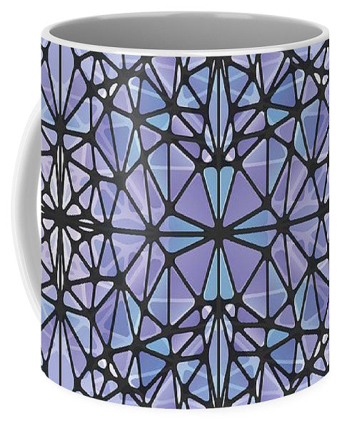 Purple And Blue Kaleidoscope - Mug
