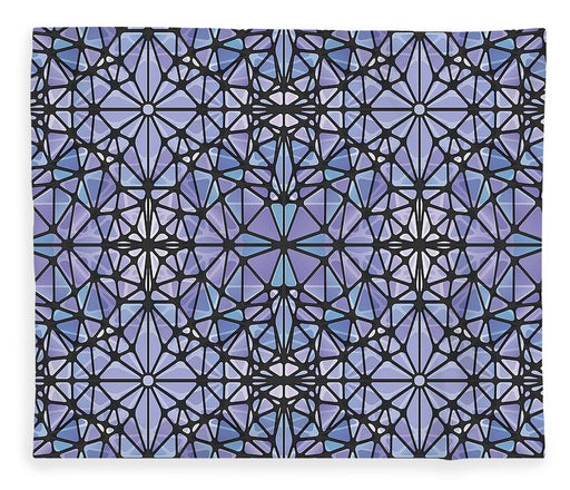 Purple And Blue Kaleidoscope - Blanket