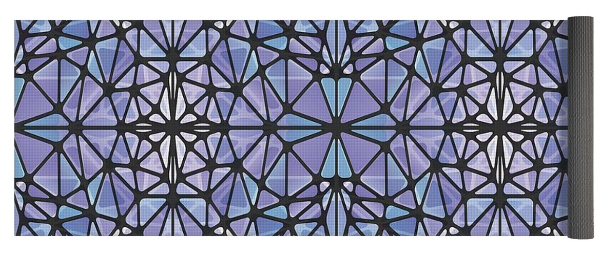 Purple And Blue Kaleidoscope - Yoga Mat