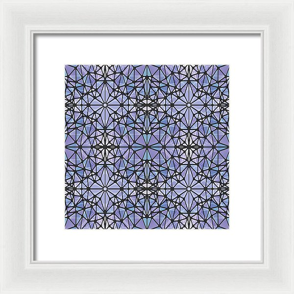 Purple And Blue Kaleidoscope - Framed Print