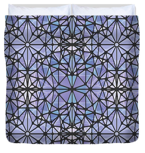 Purple And Blue Kaleidoscope - Duvet Cover