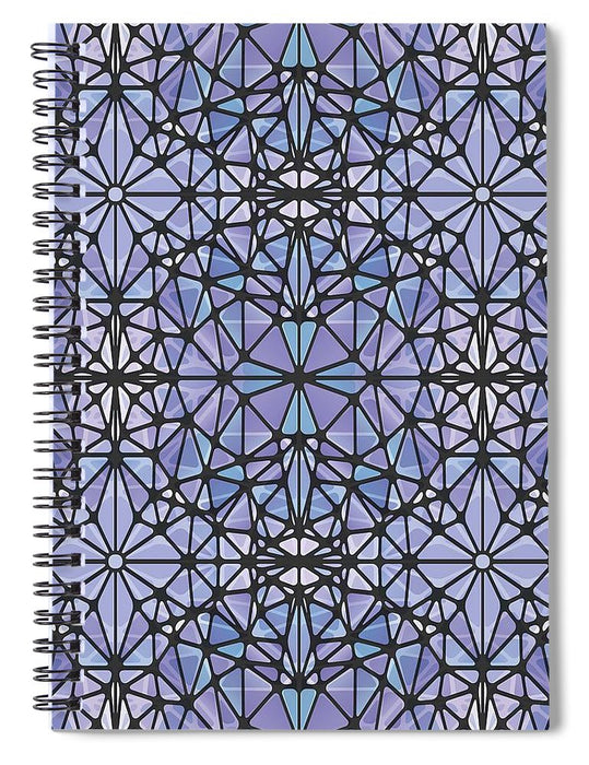 Purple And Blue Kaleidoscope - Spiral Notebook