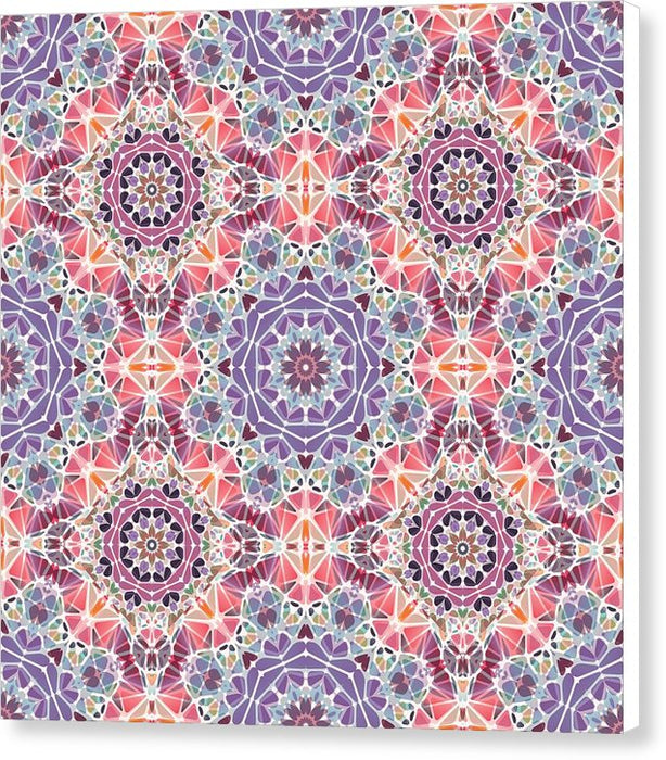 Purple And Pink Kaleidoscope - Canvas Print