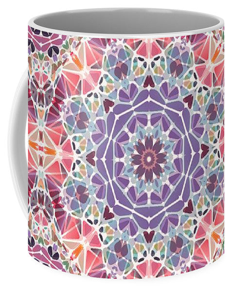 Purple And Pink Kaleidoscope - Mug