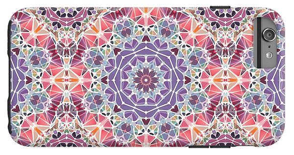 Purple And Pink Kaleidoscope - Phone Case