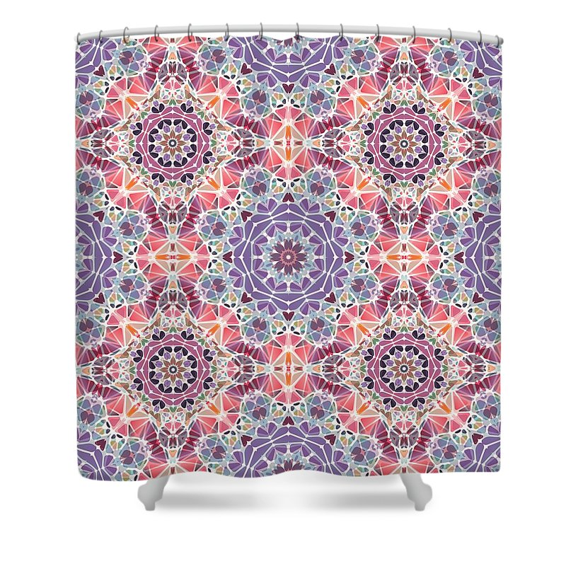 Purple And Pink Kaleidoscope - Shower Curtain