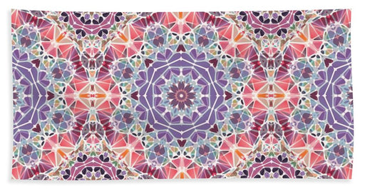 Purple And Pink Kaleidoscope - Bath Towel