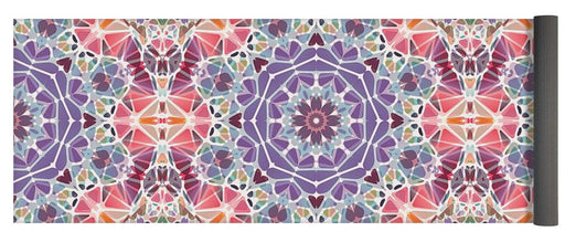 Purple And Pink Kaleidoscope - Yoga Mat