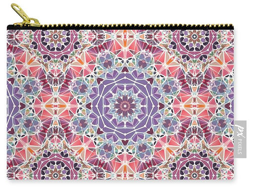 Purple And Pink Kaleidoscope - Carry-All Pouch