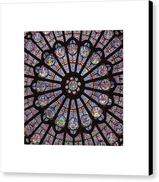 Rose South Window, Notre Dame Paris - Canvas Print