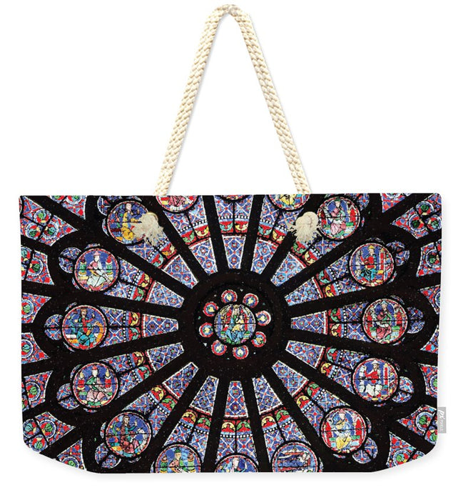 Rose South Window, Notre Dame Paris - Weekender Tote Bag