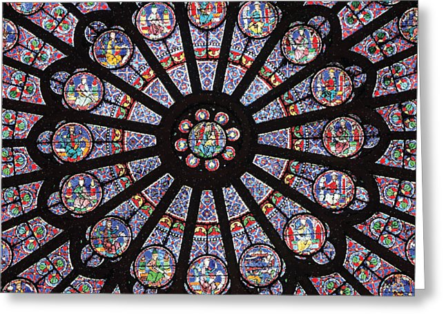 Rose South Window, Notre Dame Paris - Greeting Card
