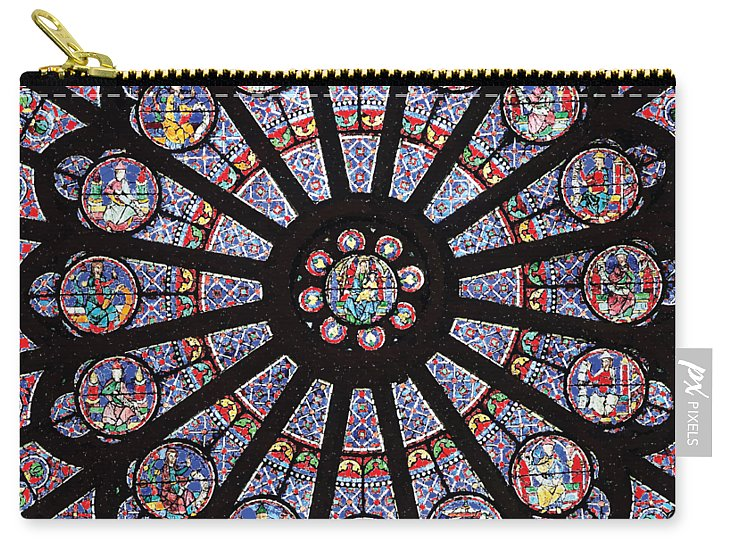 Rose South Window, Notre Dame Paris - Carry-All Pouch