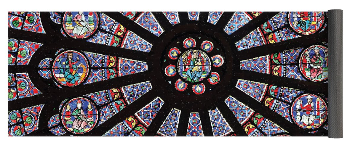 Rose South Window, Notre Dame Paris - Yoga Mat