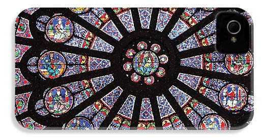 Rose South Window, Notre Dame Paris - Phone Case