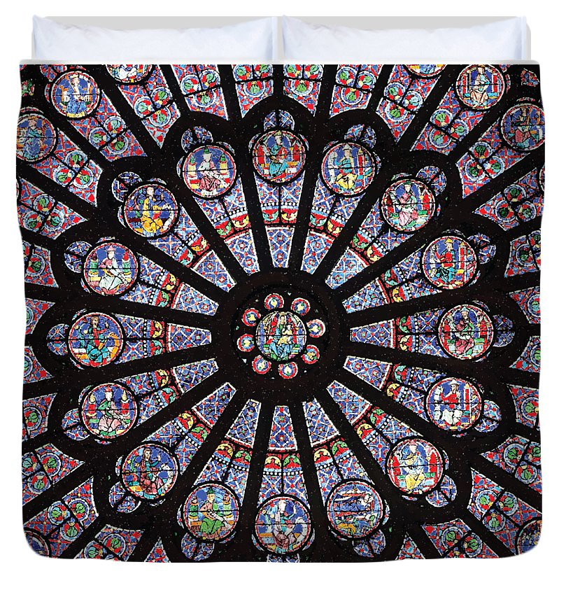 Rose South Window, Notre Dame Paris - Duvet Cover