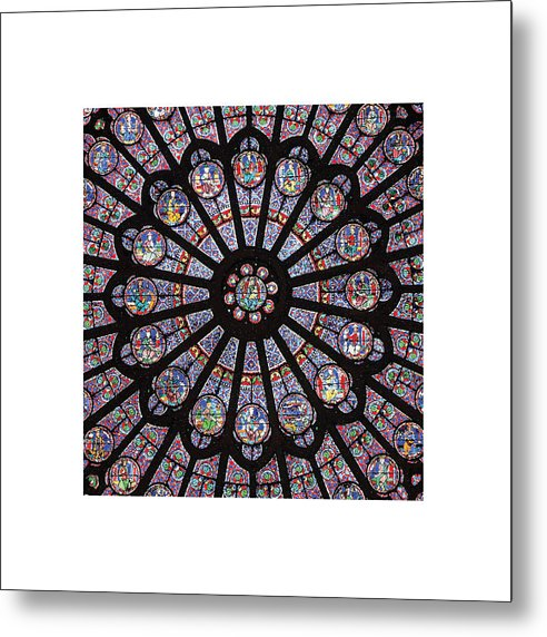 Rose South Window, Notre Dame Paris - Metal Print