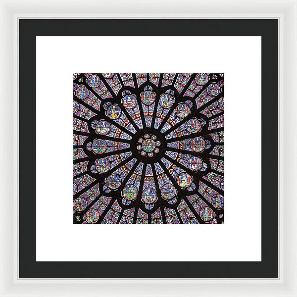 Rose South Window, Notre Dame Paris - Framed Print