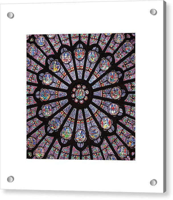 Rose South Window, Notre Dame Paris - Acrylic Print