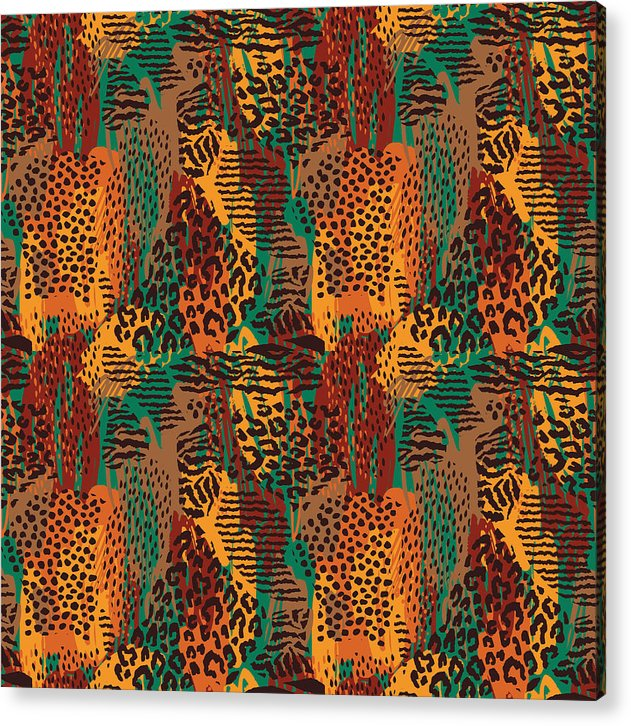 Safari Animal Print Mashup - Acrylic Print