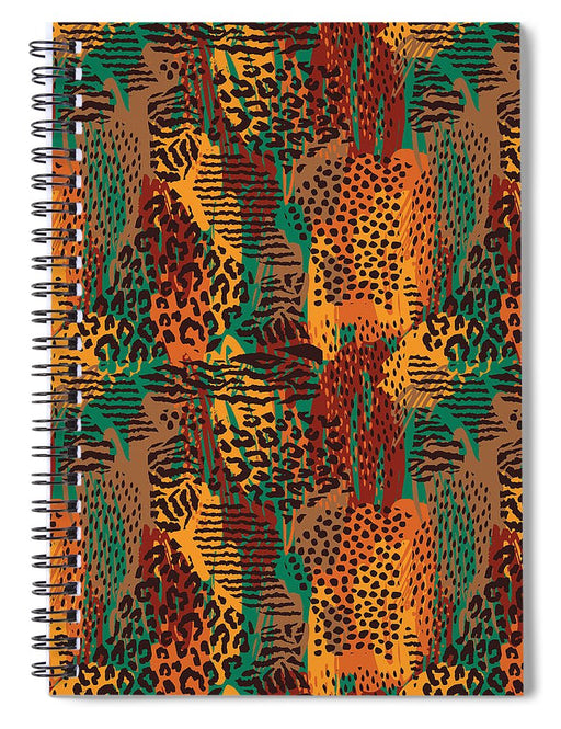 Safari Animal Print Mashup - Spiral Notebook