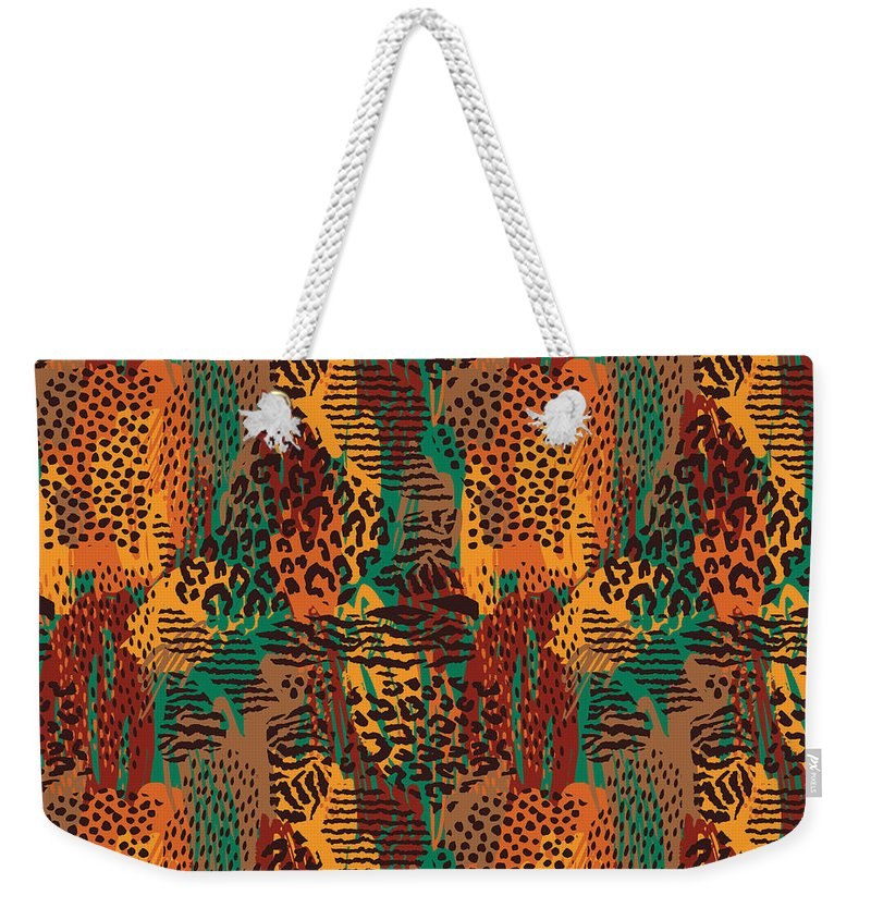 Safari Animal Print Mashup - Weekender Tote Bag