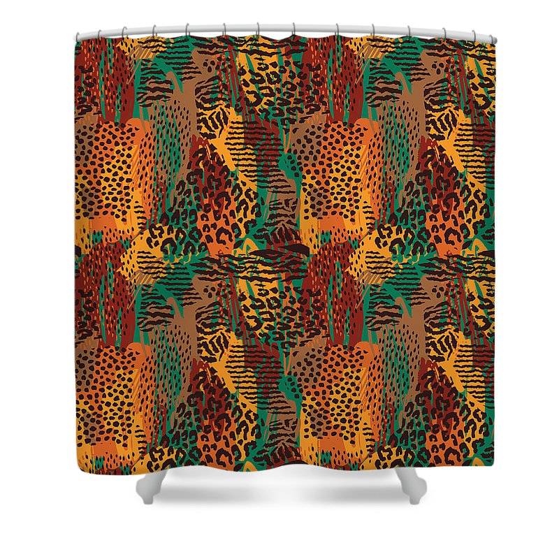 Safari Animal Print Mashup - Shower Curtain