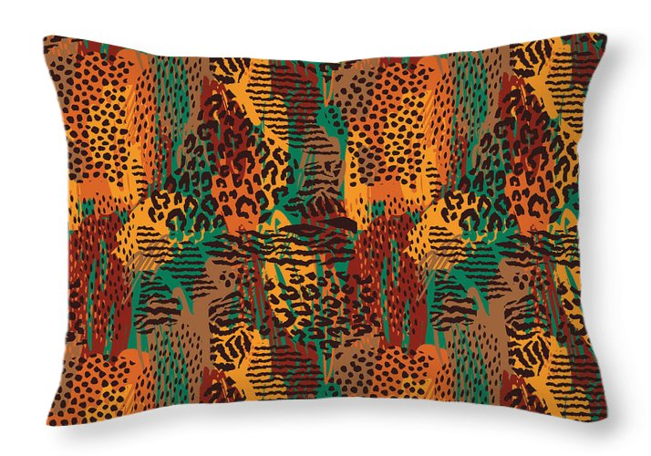Safari Animal Print Mashup - Throw Pillow