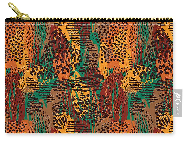 Safari Animal Print Mashup - Carry-All Pouch