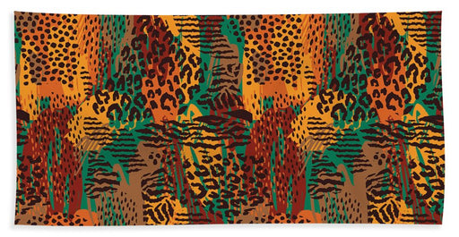 Safari Animal Print Mashup - Bath Towel