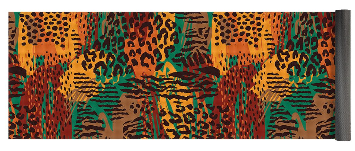 Safari Animal Print Mashup - Yoga Mat