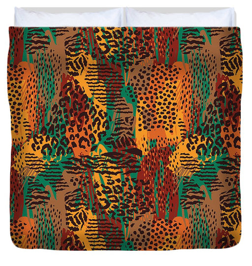 Safari Animal Print Mashup - Duvet Cover