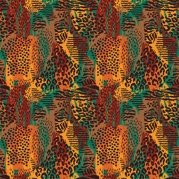 Safari Animal Print Mashup - Art Print