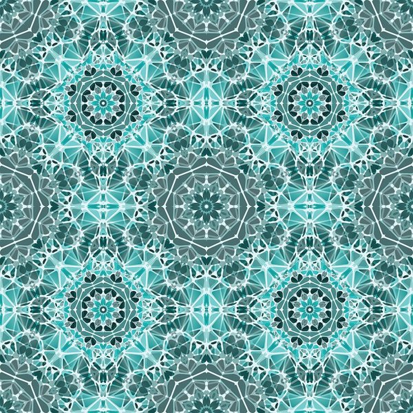 Turquoise And Gray Kaleidoscope - Art Print