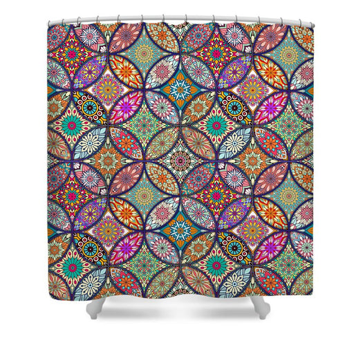 Vibrant Mandalas - Shower Curtain