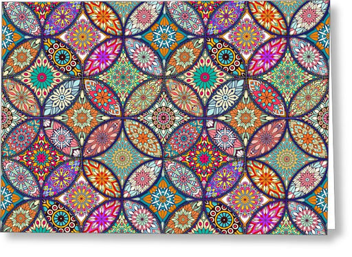 Vibrant Mandalas - Greeting Card