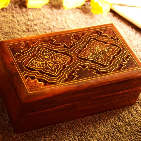 Decorative carved design boxes- hashcart