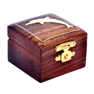 Small Decorative Ring Box Made of Indian Sheesham Wood