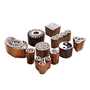 Rosewood Stamping Blocks for Printing & Home Decor
